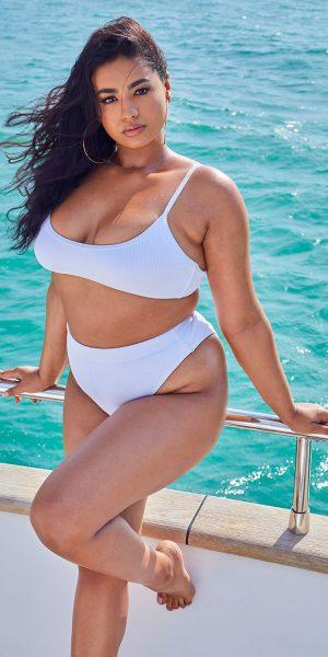 High Legged Bikini Bottoms – White