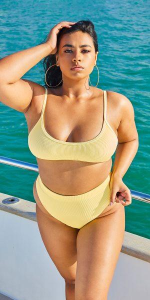 High Legged Bikini Bottoms – Yellow