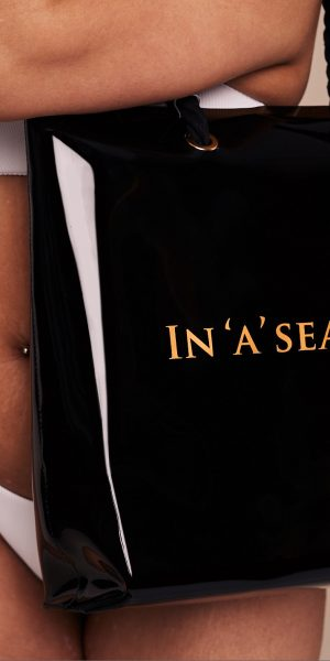 In'A'Seashell Black Tote Bag